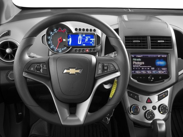 2016 Chevrolet Sonic Prices and Values Sedan 4D LS I4 driver's dashboard