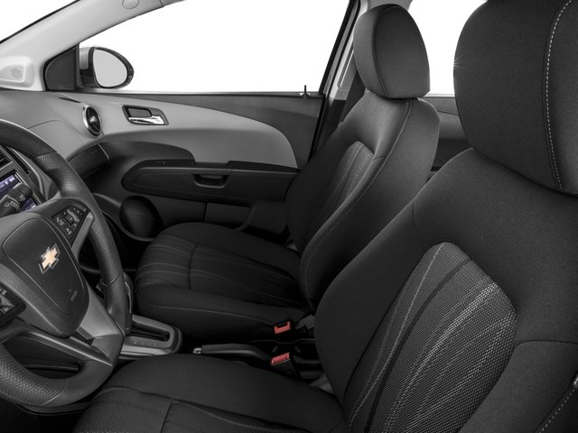 2016 Chevrolet Sonic Prices and Values Sedan 4D LT I4 front seat interior