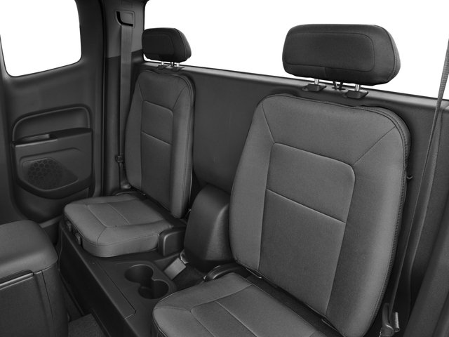 2016 Chevrolet Colorado Prices and Values Extended Cab Work Truck 4WD backseat interior