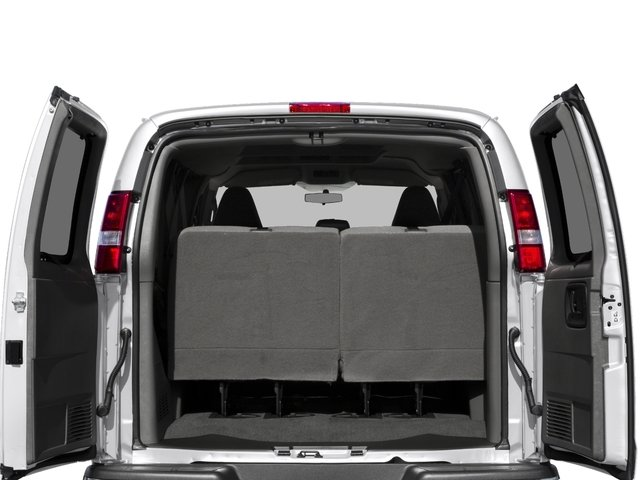 2016 Chevrolet Express Passenger Prices and Values Express Van LS 135  open trunk