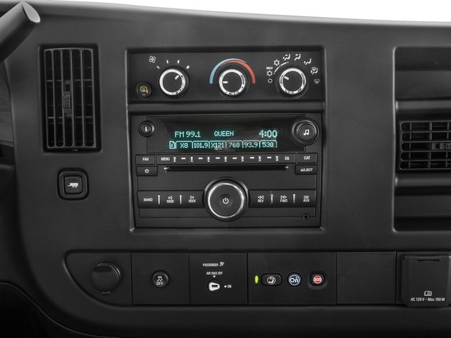 2016 Chevrolet Express Passenger Prices and Values Extended Express Van LS 155  stereo system