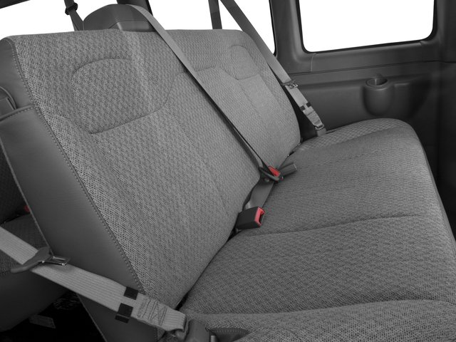 2016 Chevrolet Express Passenger Prices and Values Extended Express Van LS 155  backseat interior
