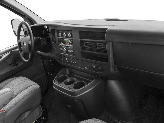 2016 Chevrolet Express Passenger Prices and Values Extended Express Van LS 155  passenger's dashboard