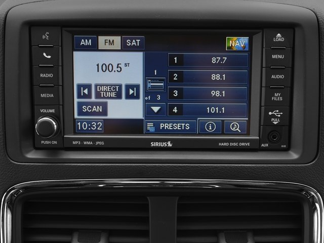 2016 Dodge Grand Caravan Prices and Values Grand Caravan R/T V6 stereo system