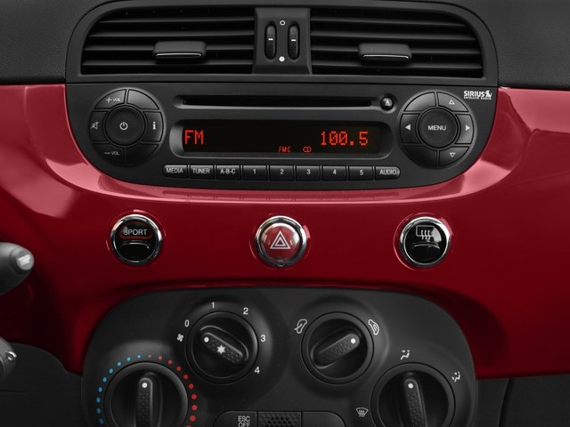 2016 FIAT 500 Pictures 500 Hatchback 3D Lounge I4 photos stereo system