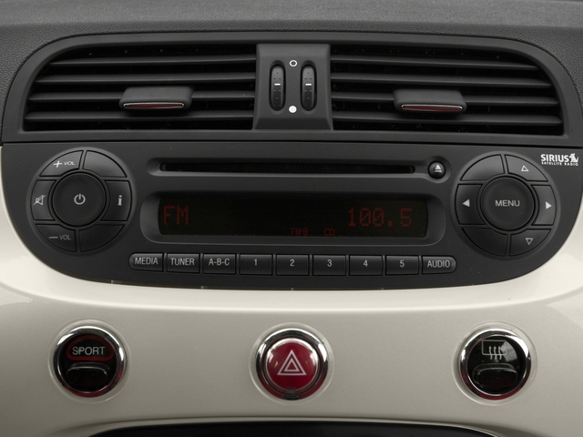 2016 FIAT 500c Prices and Values Convertible 2D Easy I4 stereo system