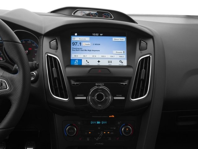 2016 Ford Focus Prices and Values Hatchback 5D RS AWD I4 Turbo stereo system