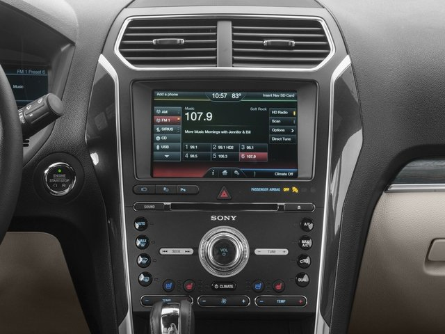 2016 Ford Explorer Pictures Explorer Utility 4D Limited 2WD V6 photos stereo system