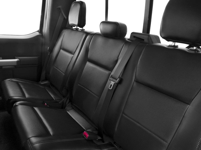 2016 Ford F-150 Prices and Values Supercab Lariat 2WD backseat interior