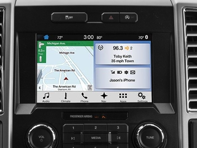 2016 Ford F-150 Prices and Values Supercab Lariat 2WD navigation system