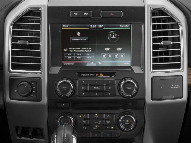 2016 Ford F-150 Prices and Values Crew Cab Lariat 4WD stereo system