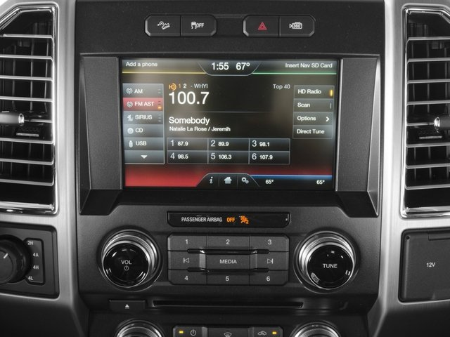 2016 Ford F-150 Prices and Values Crew Cab Platinum 4WD stereo system