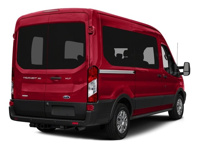 2016 Ford Transit Wagon Prices and Values Passenger Van XLT Medium Roof side rear view