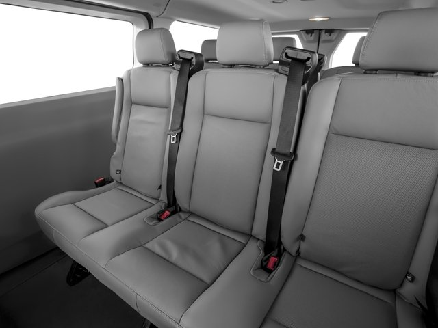 2016 Ford Transit Wagon Prices and Values Passenger Van XLT Low Roof backseat interior