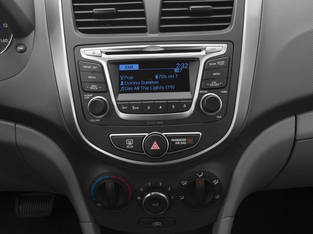 2016 Hyundai Accent Prices and Values Sedan 4D SE I4 stereo system