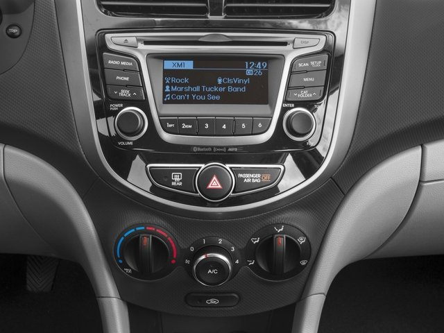 2016 Hyundai Accent Prices and Values Hatchback 5D Sport I4 stereo system