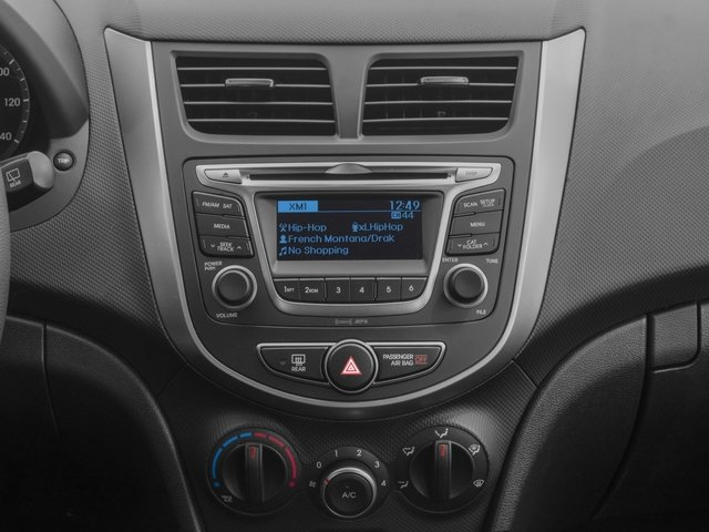 2016 Hyundai Accent Prices and Values Hatchback 5D SE I4 stereo system