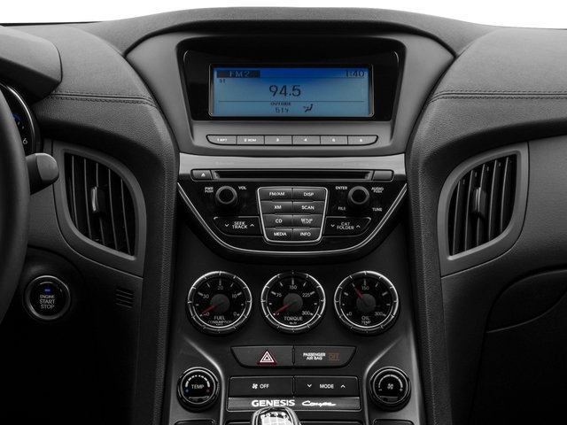 2016 Hyundai Genesis Coupe Prices and Values Coupe 2D R-Spec V6 stereo system