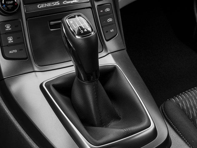 2016 Hyundai Genesis Coupe Prices and Values Coupe 2D R-Spec V6 center console