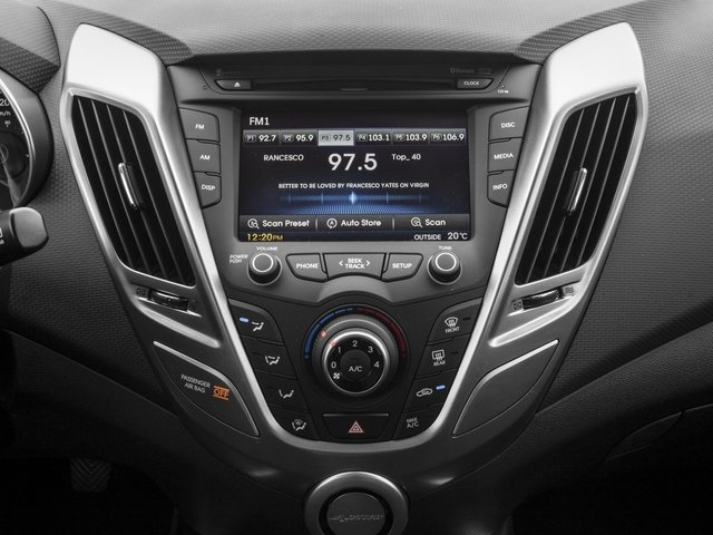 2016 Hyundai Veloster Prices and Values Coupe 3D I4 stereo system