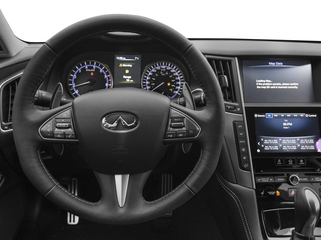 2016 INFINITI Q50 Prices and Values Sedan 4D 3.0T Red Sport AWD V6 Turbo driver's dashboard