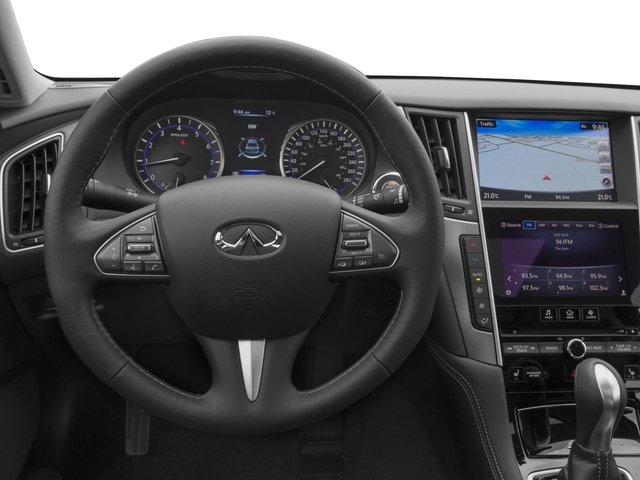 2016 INFINITI Q50 Prices and Values Sedan 4D 2.0T Premium AWD I4 Turbo driver's dashboard