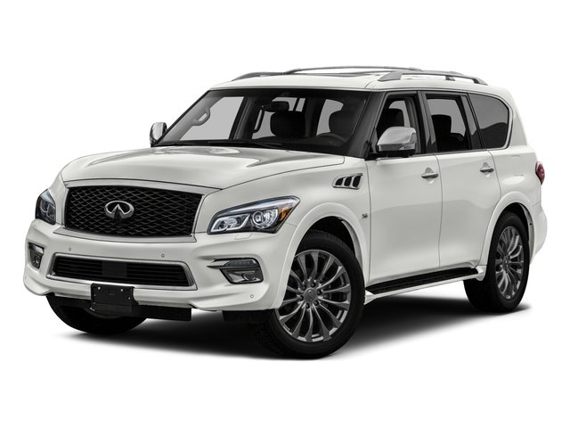 2016 INFINITI QX80 Pictures QX80 Utility 4D Limited AWD V8 photos side front view
