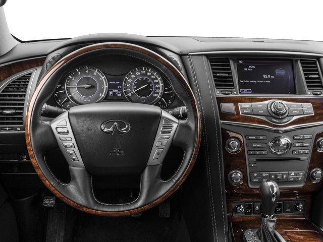 2016 INFINITI QX80 Prices and Values Utility 4D 2WD V8 driver's dashboard