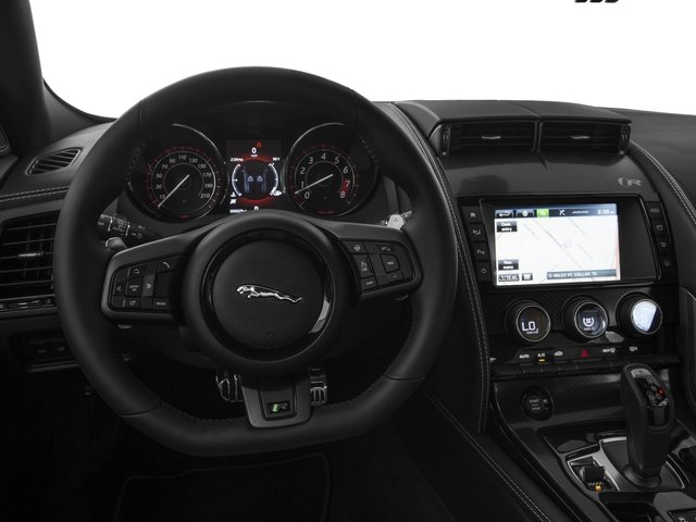 2016 Jaguar F-TYPE Prices and Values Coupe 2D R AWD V8 driver's dashboard