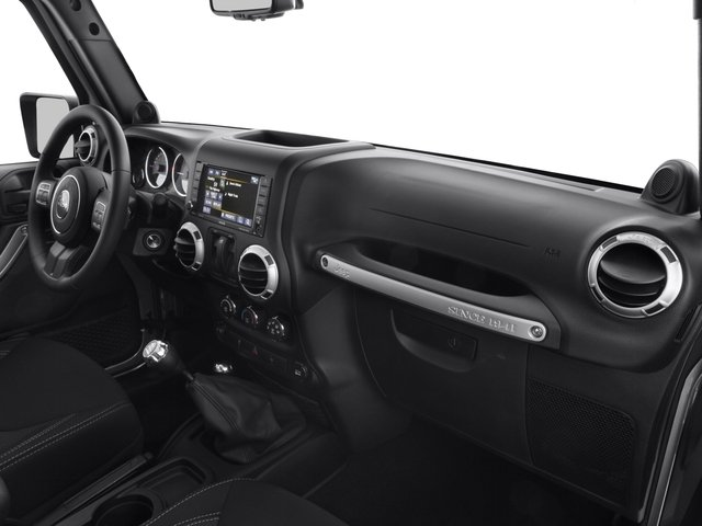 2016 Jeep Wrangler Prices and Values Utility 2D Sahara 4WD V6 passenger's dashboard