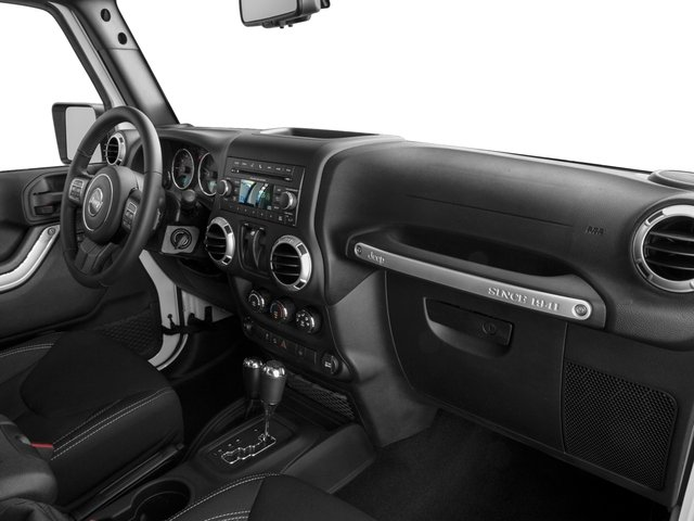 2016 Jeep Wrangler Prices and Values Utility 2D Rubicon 4WD V6 passenger's dashboard