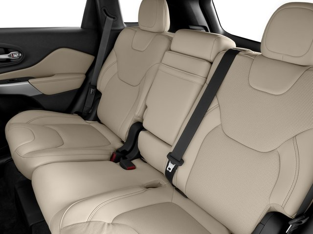 2016 Jeep Cherokee Prices and Values Utility 4D Overland 2WD backseat interior