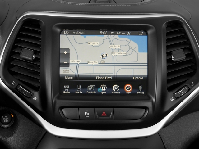 2016 Jeep Cherokee Prices and Values Utility 4D Overland 2WD navigation system