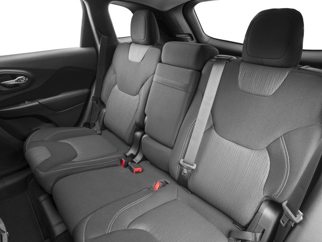 2016 Jeep Cherokee Prices and Values Utility 4D High Altitude 4WD backseat interior
