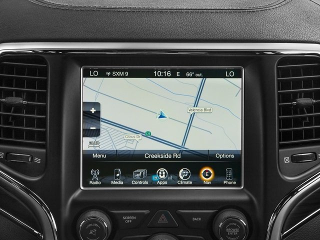 2016 Jeep Grand Cherokee Prices and Values Utility 4D High Altitude 2WD navigation system
