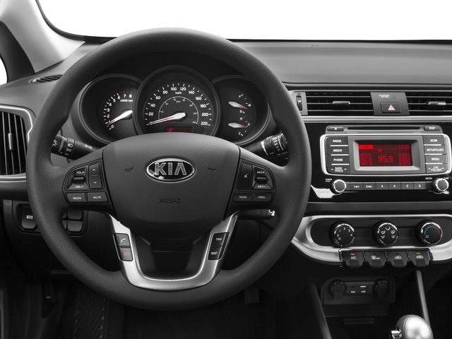 2016 Kia Rio Prices and Values Sedan 4D LX I4 driver's dashboard
