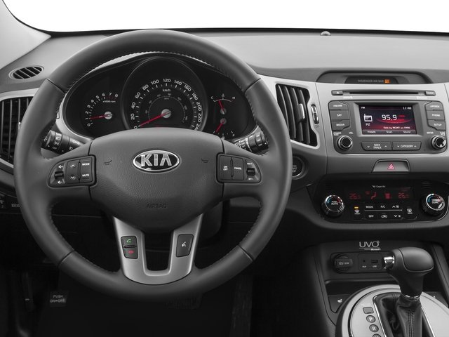 2016 Kia Sportage Prices and Values Utility 4D SX AWD I4 Turbo driver's dashboard