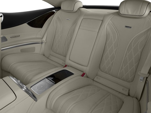 2016 Mercedes-Benz S-Class Prices and Values 2 Door Coupe Rear Wheel Drive backseat interior