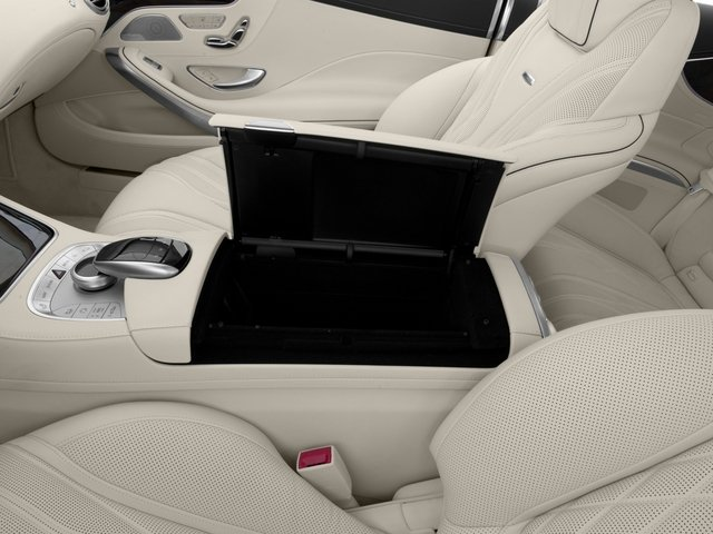 2016 Mercedes-Benz S-Class Prices and Values 2 Door Coupe Rear Wheel Drive center storage console