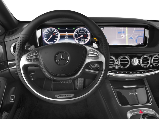 2016 Mercedes-Benz S-Class Prices and Values 4 Door Sedan Rear Wheel Drive driver's dashboard