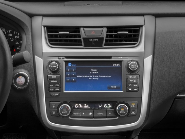 2016 Nissan Altima Prices and Values Sedan 4D SL V6 stereo system