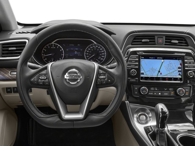 2016 Nissan Maxima Prices and Values Sedan 4D Platinum V6 driver's dashboard