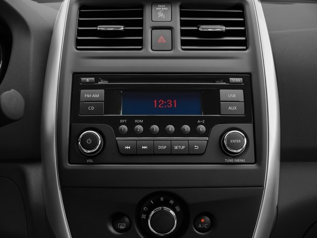 2016 Nissan Versa Prices and Values Sedan 4D SV I4 stereo system