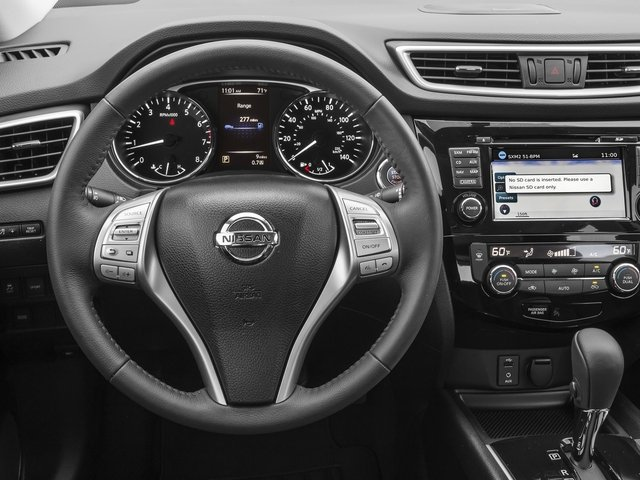 2016 Nissan Rogue Prices and Values Utility 4D SL 2WD I4 driver's dashboard