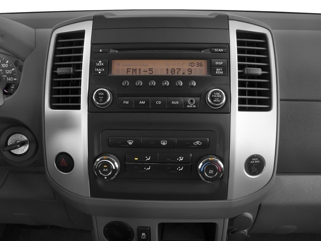 2016 Nissan Frontier Prices and Values Crew Cab S 2WD stereo system