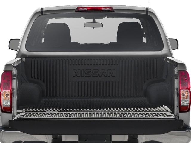 2016 Nissan Frontier Prices and Values Crew Cab S 2WD open trunk