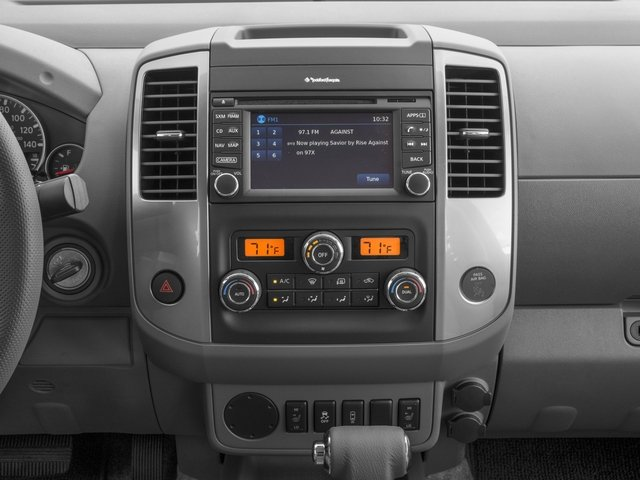2016 Nissan Frontier Prices and Values Crew Cab SL 4WD stereo system