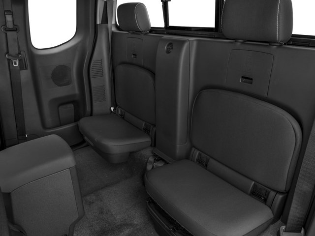 2016 Nissan Frontier Prices and Values King Cab PRO-4X 4WD backseat interior