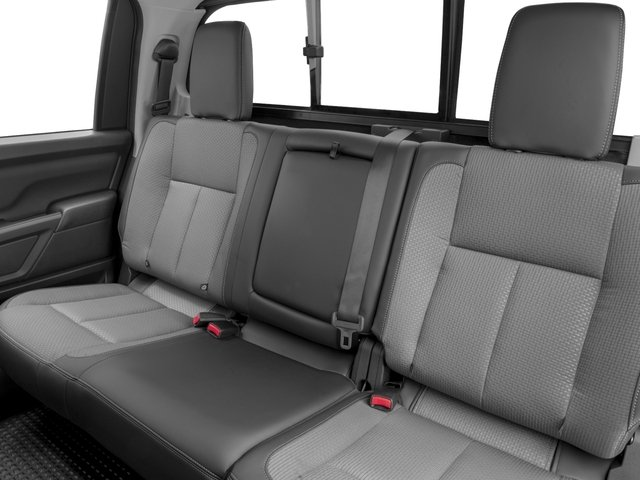 2016 Nissan Titan XD Prices and Values Crew Cab S 4WD V8 backseat interior