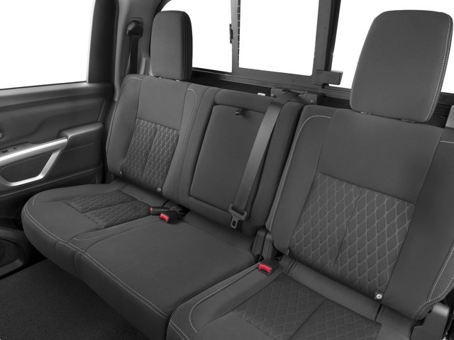 2016 Nissan Titan XD Prices and Values Crew Cab SV 4WD V8 backseat interior
